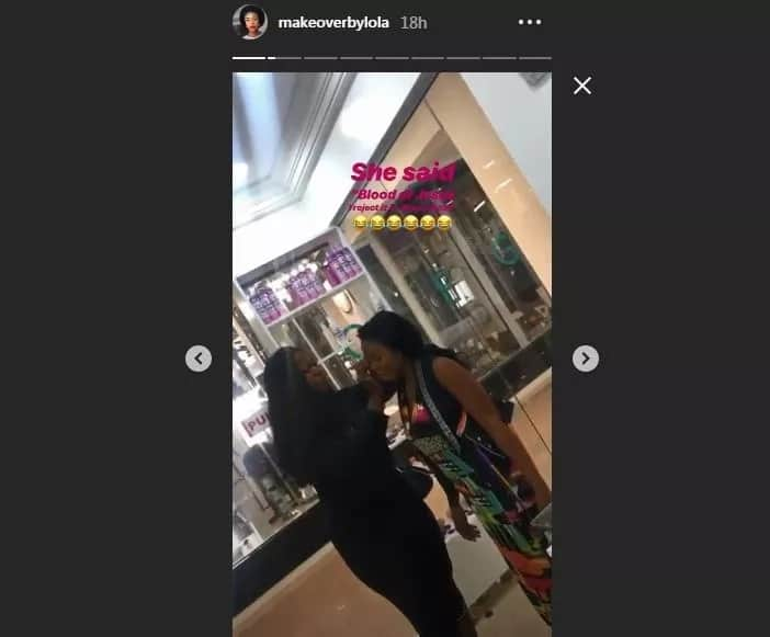 Makeup artist cleans off the faces of clients who offered her N1500 after service in Lagos