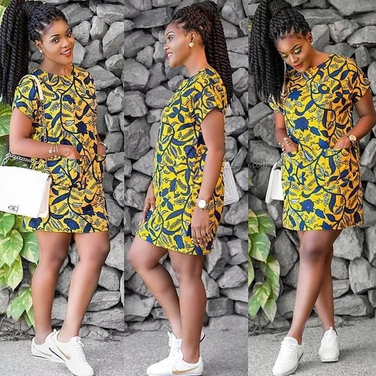 Latest images with Ankara straight gowns