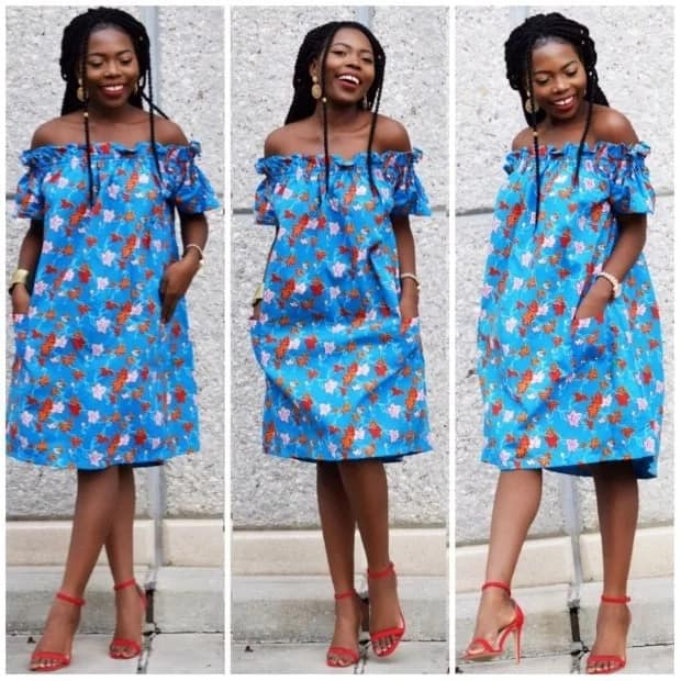 Ankara straight gowns with elastic band