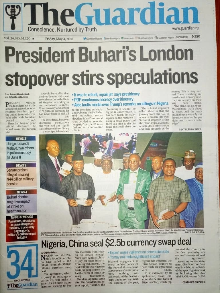 Newspaper Review: Buhari's trip was beneficial to Nigeria - Presidency tells OBJ, others