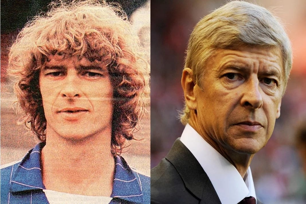 Arsene Wenger now and then