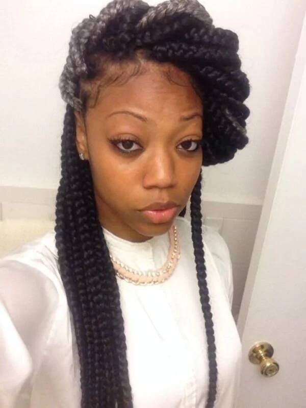 Jumbo box braids hairstyles