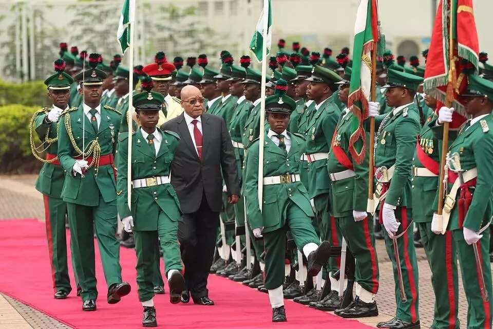 Jacob Zuma during his visit to Nigeria