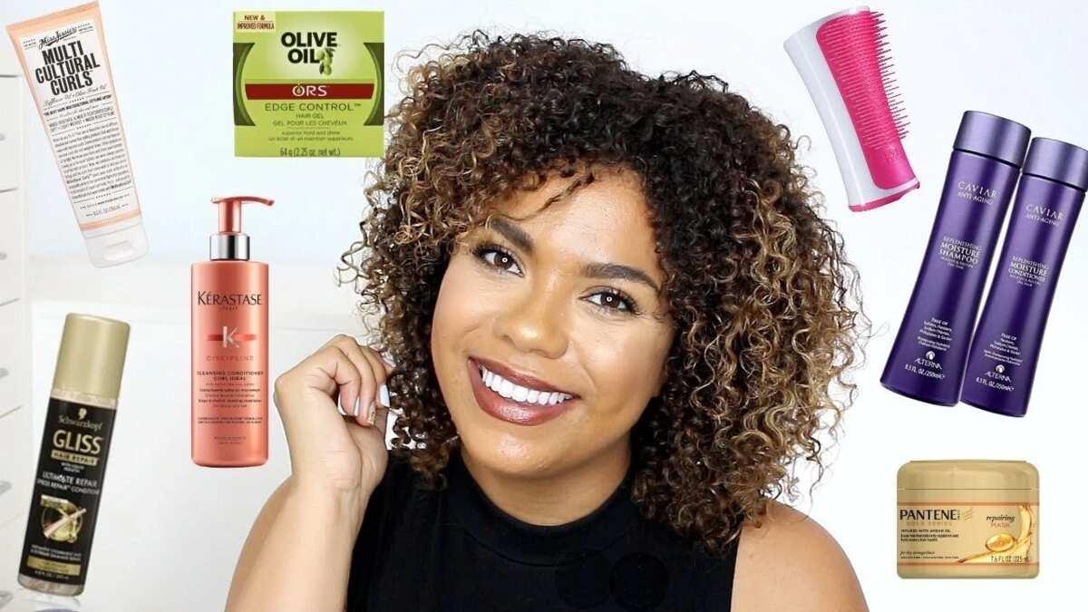 curly short natural hair