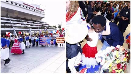 See how church members staged lavish welcome party for Prophet TB Joshua in Paraguay (photos)