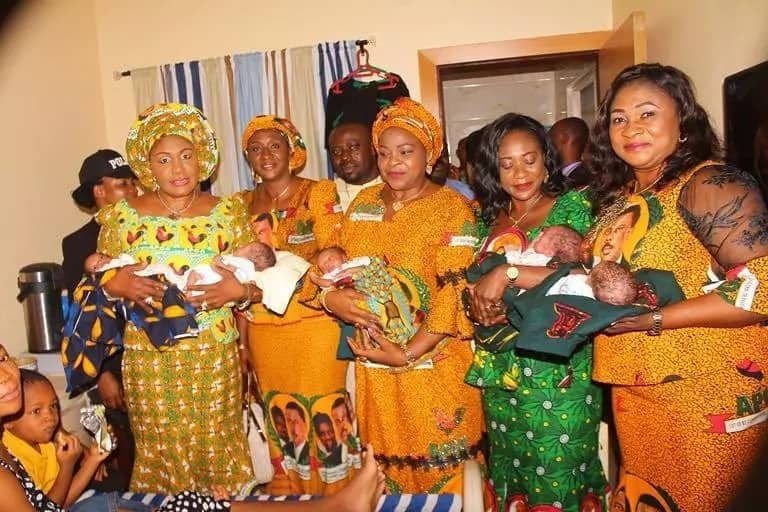 Obiano storms hospital, surprises woman who gave birth to quintuplets