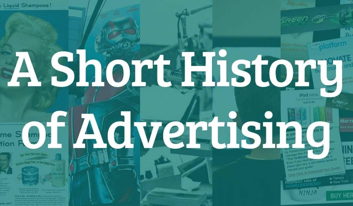 Short history of advertising