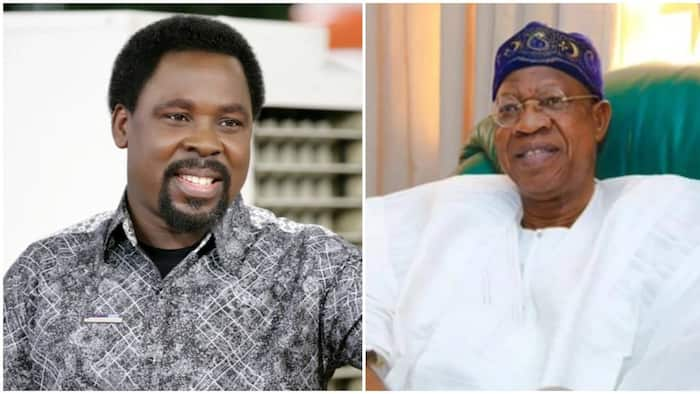 Buhari's minister says he wants to visit TB Joshua's church; reveals why