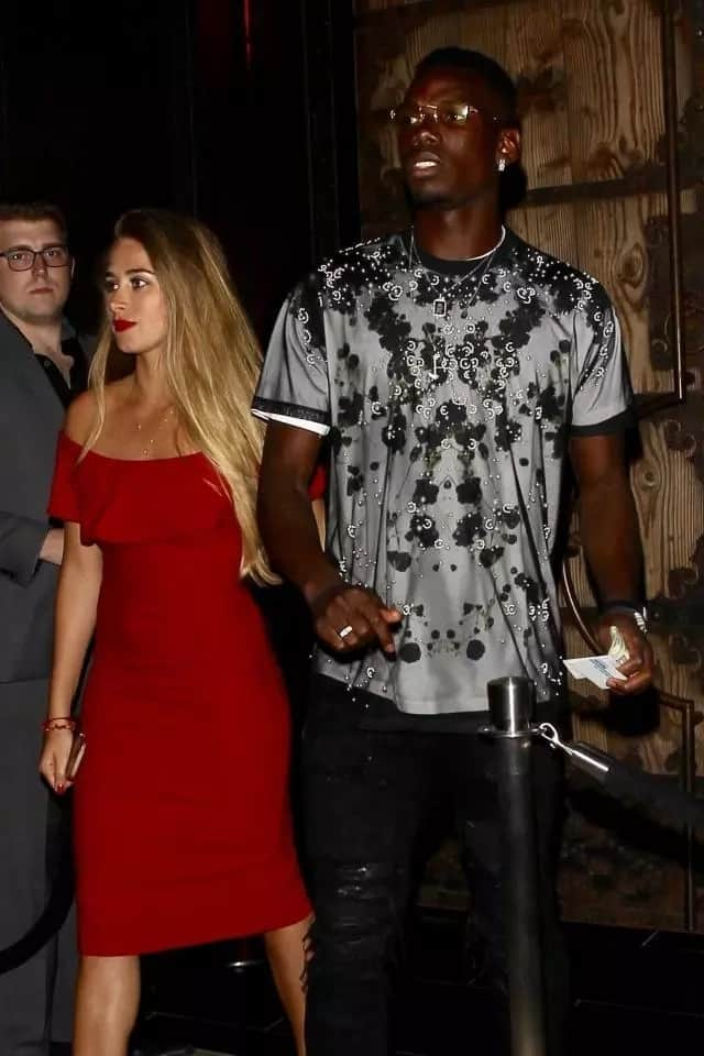 Paul Pogba's girlfriend Maria Salaues supports Manchester United ace in defeat to West Brom