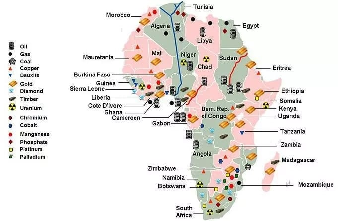 Map Of Africa Natural Resources.Richest African Countries In Terms Of Natural Resources Legit Ng