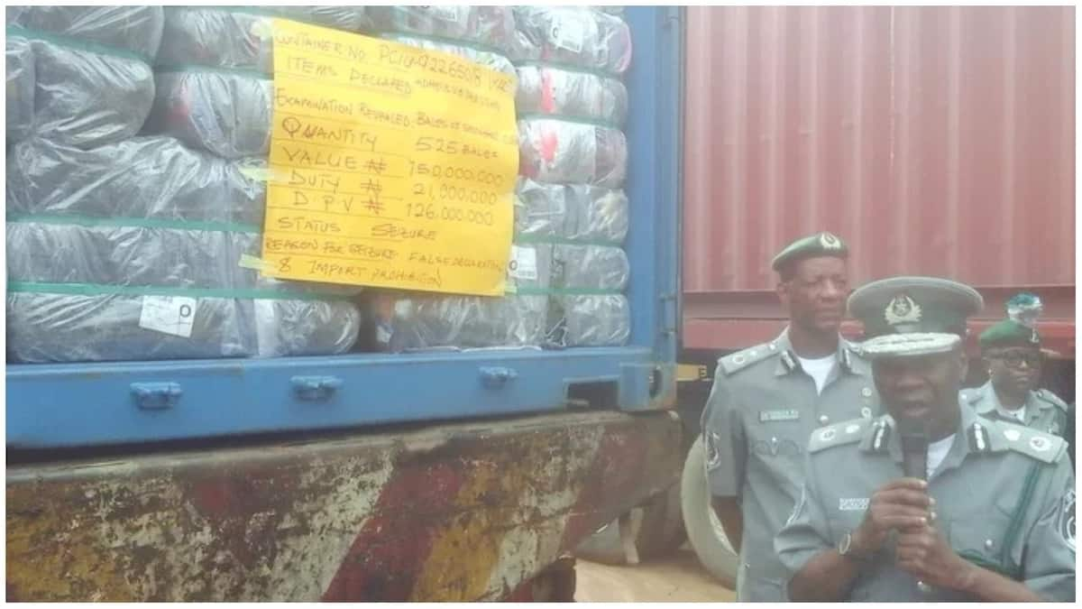 Truck filled with 498 bottles of codeine syrup. Photo source: Premium Times, kingsley Adeniyi