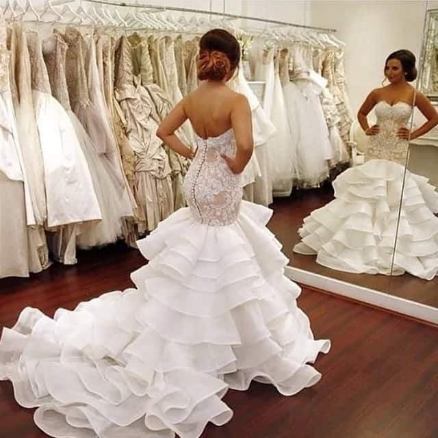 5d214c45a2f Wedding mermaid gowns. Every year designers offer different styles ...