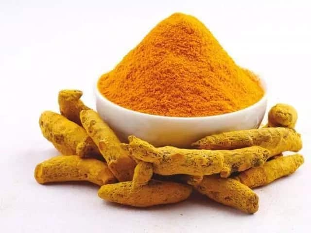 How to make turmeric powder by grinding