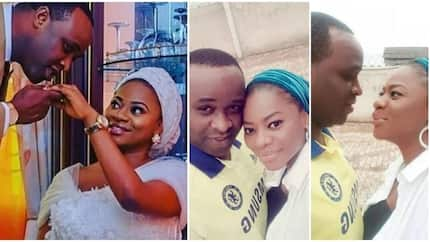 Rumour says Femi Adebayo's 1-year-old 2nd marriage allegedly suffers crisis, couple reacts with a romantic video
