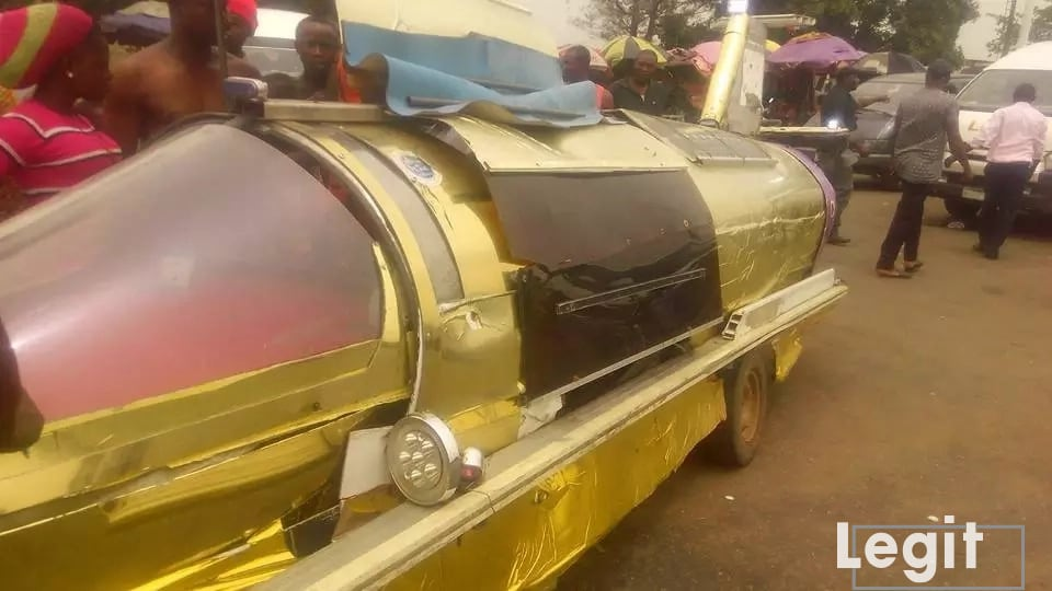 Young Nigerian inventor builds amphibious jet car that moves on land, sea and air (photos)