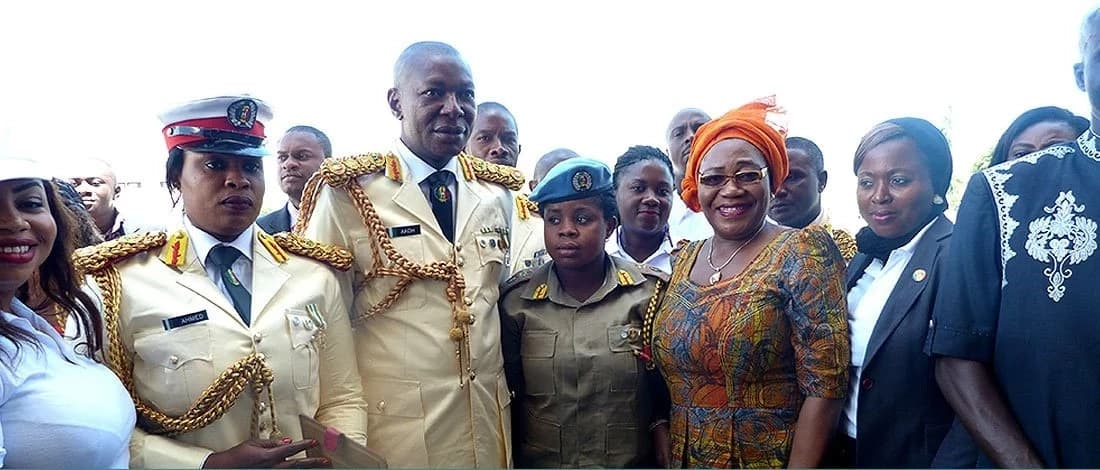 The chiefs of Nigerian Peace Corps