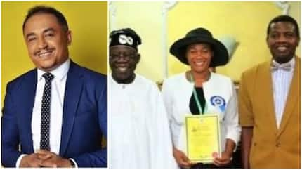 Daddy Freeze comes for Oluremi Tinubu and Pastor Adeboye after ministerial ordainment