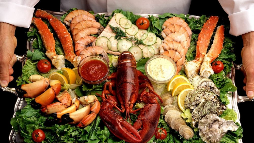 Seafood contains a large amount of protein