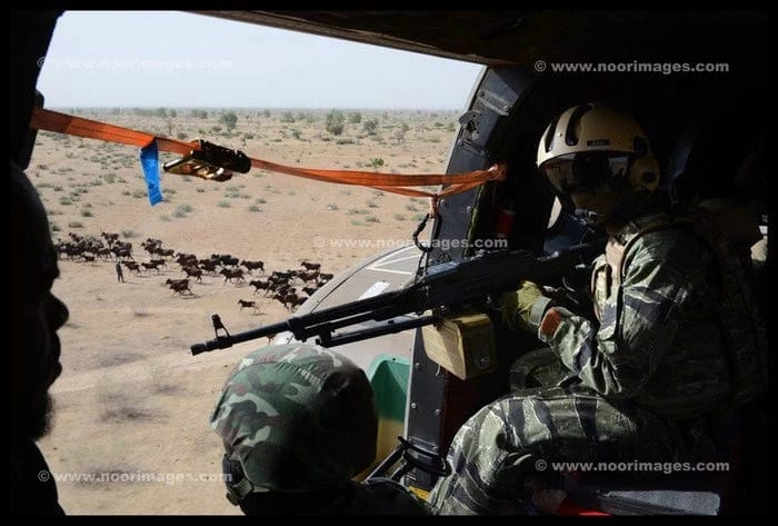 NAF Use Weaponised Helicopters Against Boko Haram