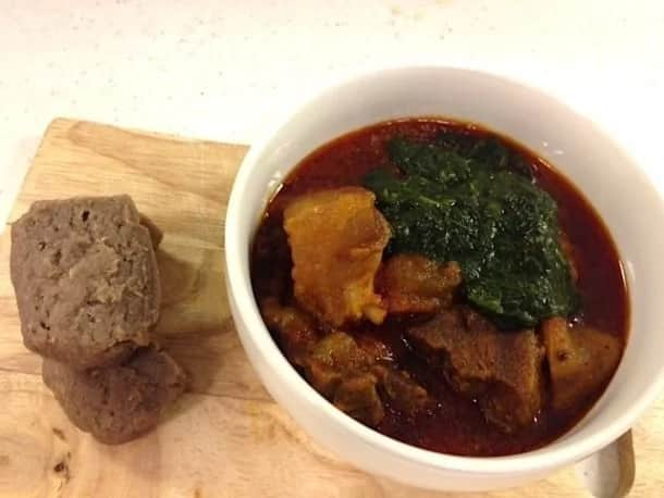 Amala and Ewedu soup recipe 4