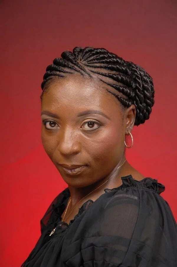 Ghana weaving styles for oval face