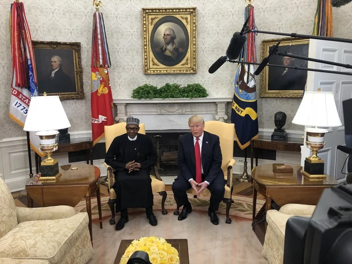 LIVE UPDATES: White House prepares to host Buhari in joint conference wit Trump