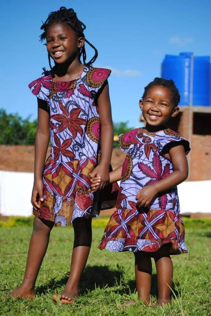 Ankara dresses for girls with frills