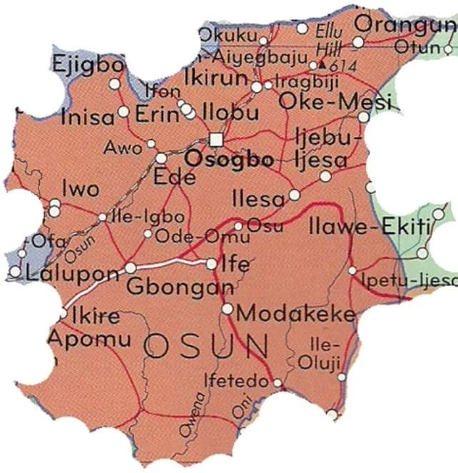 Major towns in Osun state