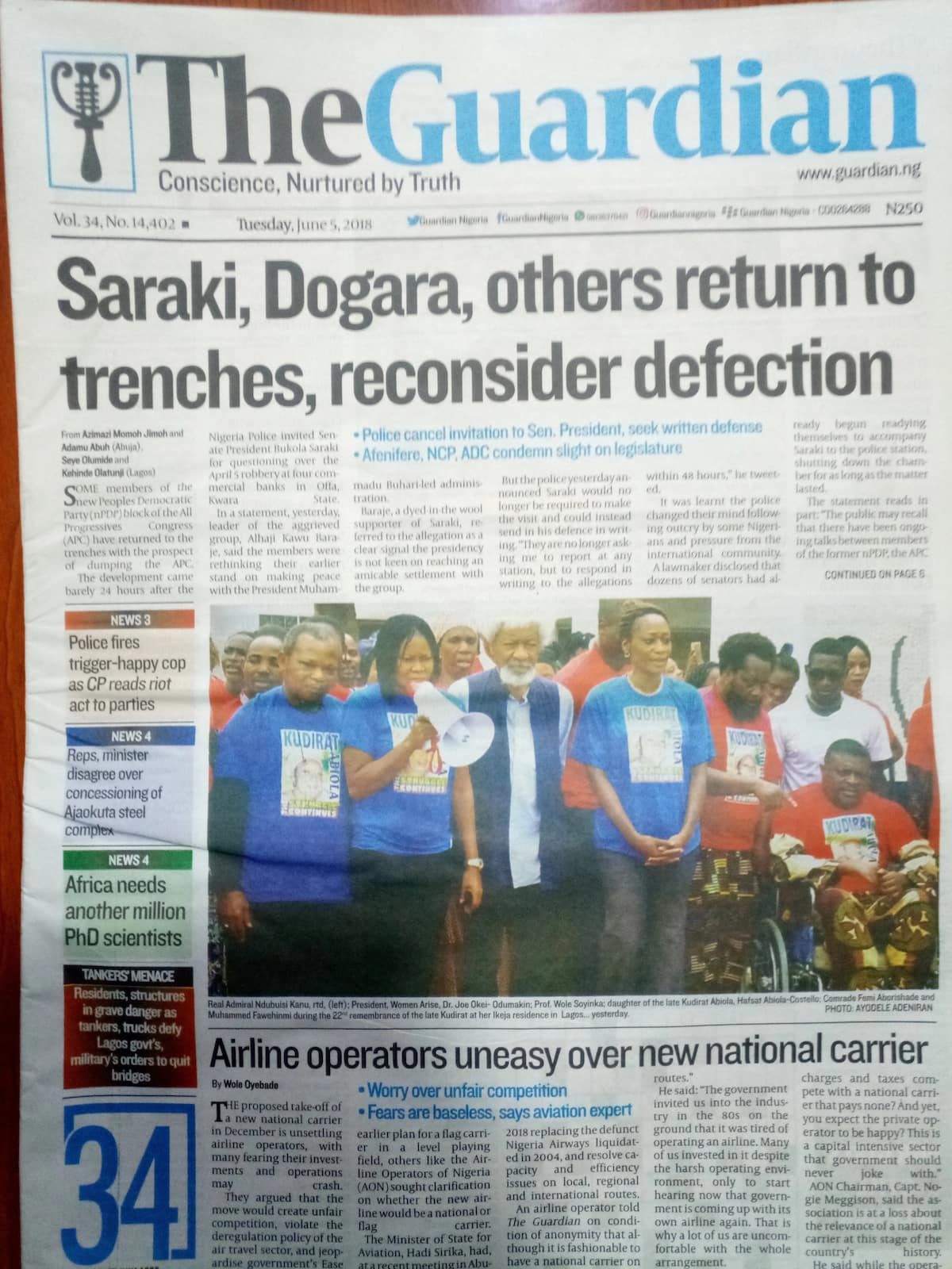 Newspaper review