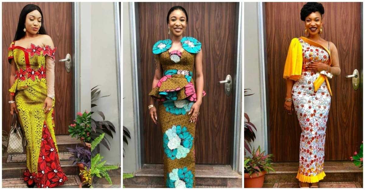 Tonto Dikeh is a real ankara fashionista