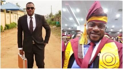 Joy as Nigerian actor Odunlade Adekola graduates from University of Lagos