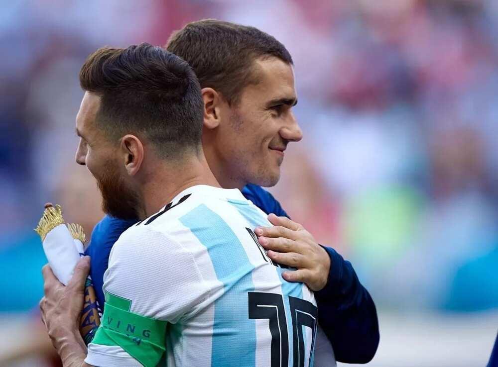 Lionel Messi da Antoine Griezmann sun samu sabani a wajen atisaye