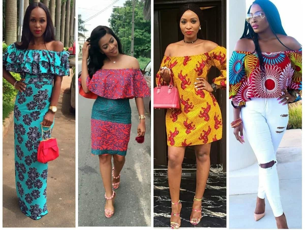 Off shoulder Ankara styles 2018