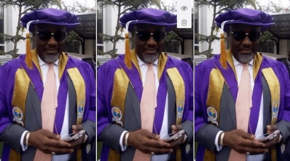 To prove that he actually graduated, Dino Melaye turns up in the Senate in a graduation gown