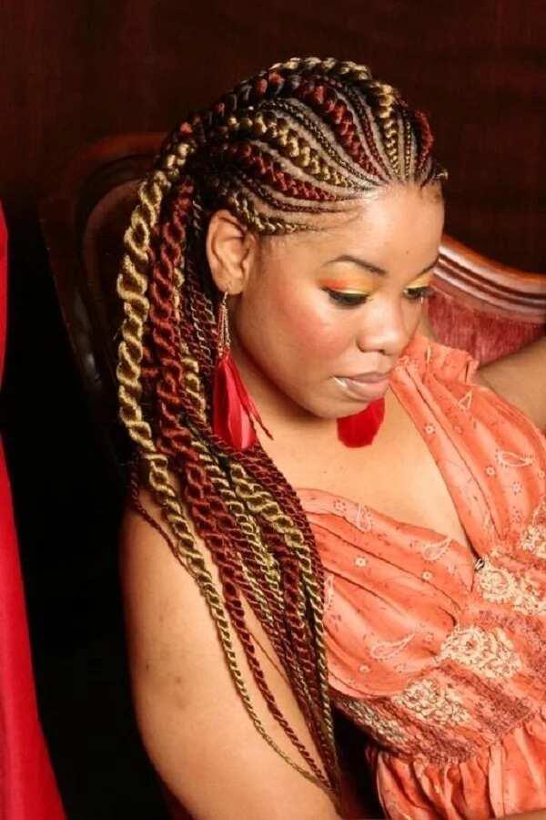 Fashion braids with a decor