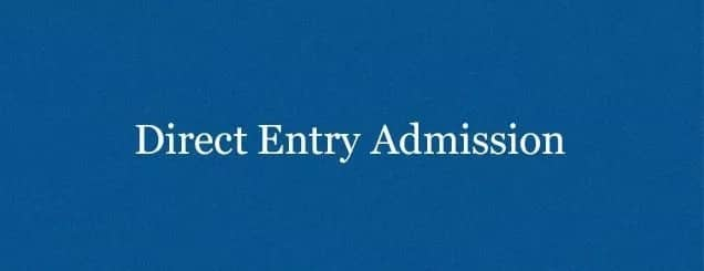 Direct entry in Nigeria