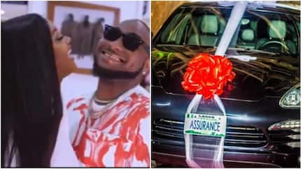 Davido blasts troll who asked why Chioma has not been spotted driving her Porsche, tells him to become her driver