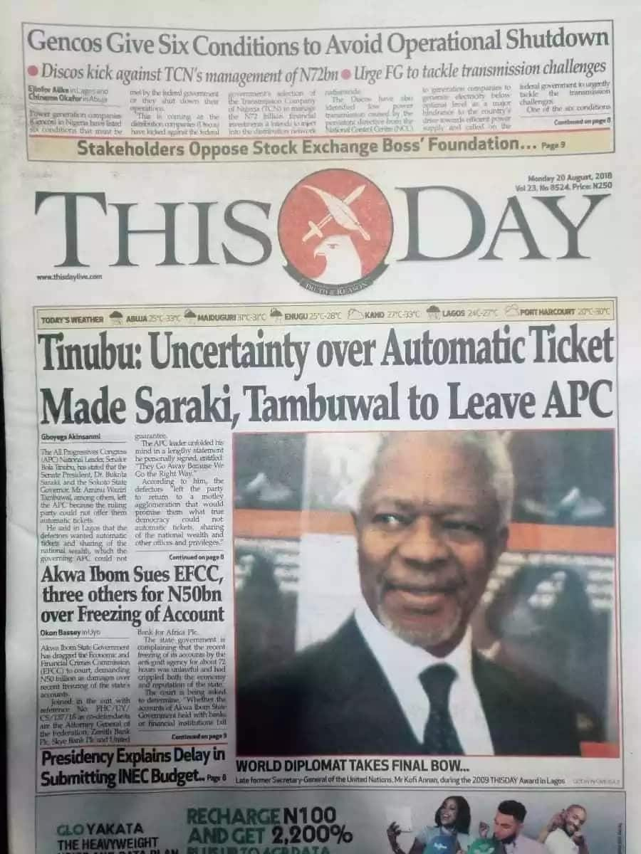 Newspaper review for Monday, August 20