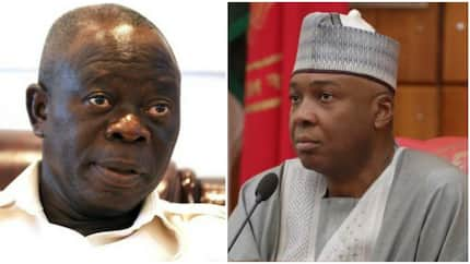 Mention one name of any aspirant that bribed me or I drag you to court - Oshiomhole tells Saraki