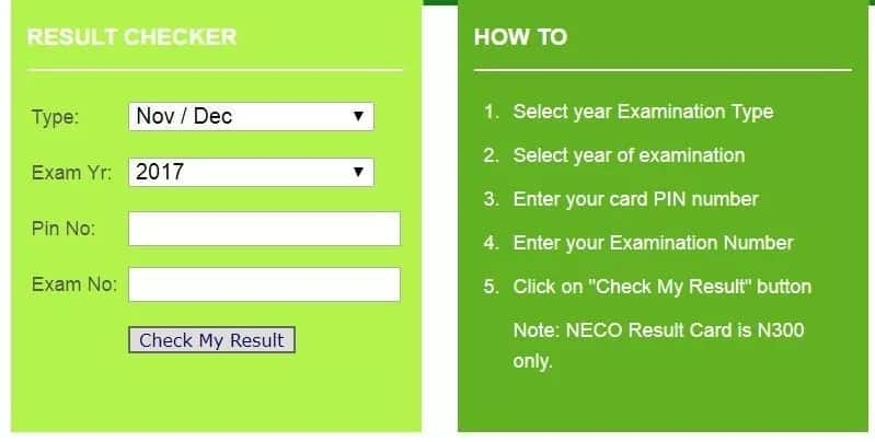 How to buy NECO scratch card online and check results