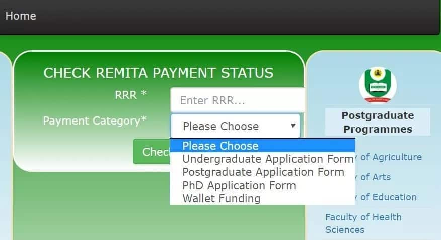 Check RRR code after making NOUN Remita payment in Nigeria