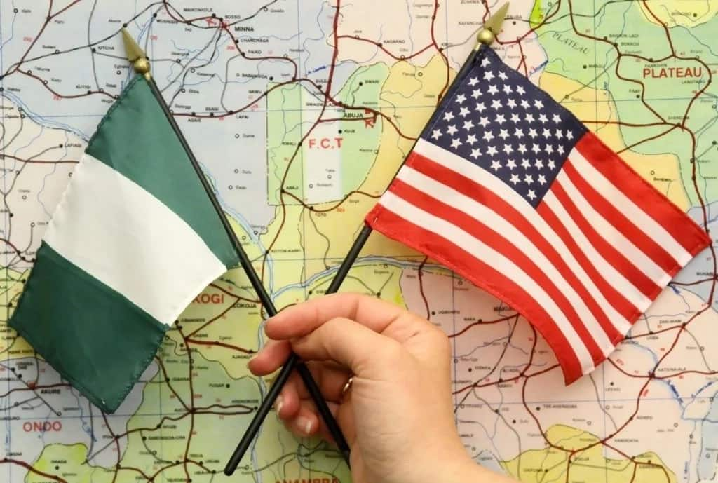 Nigerian and United States flags
