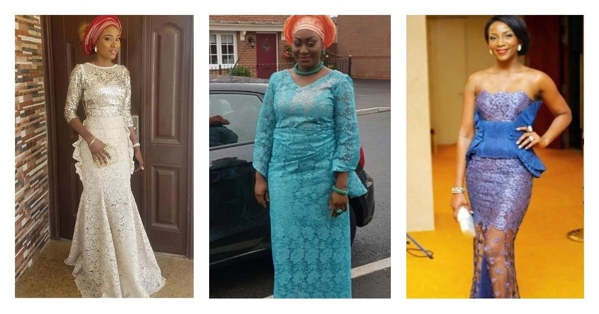 Latest Aso Ebi Styles With Cord Lace Legit.ng