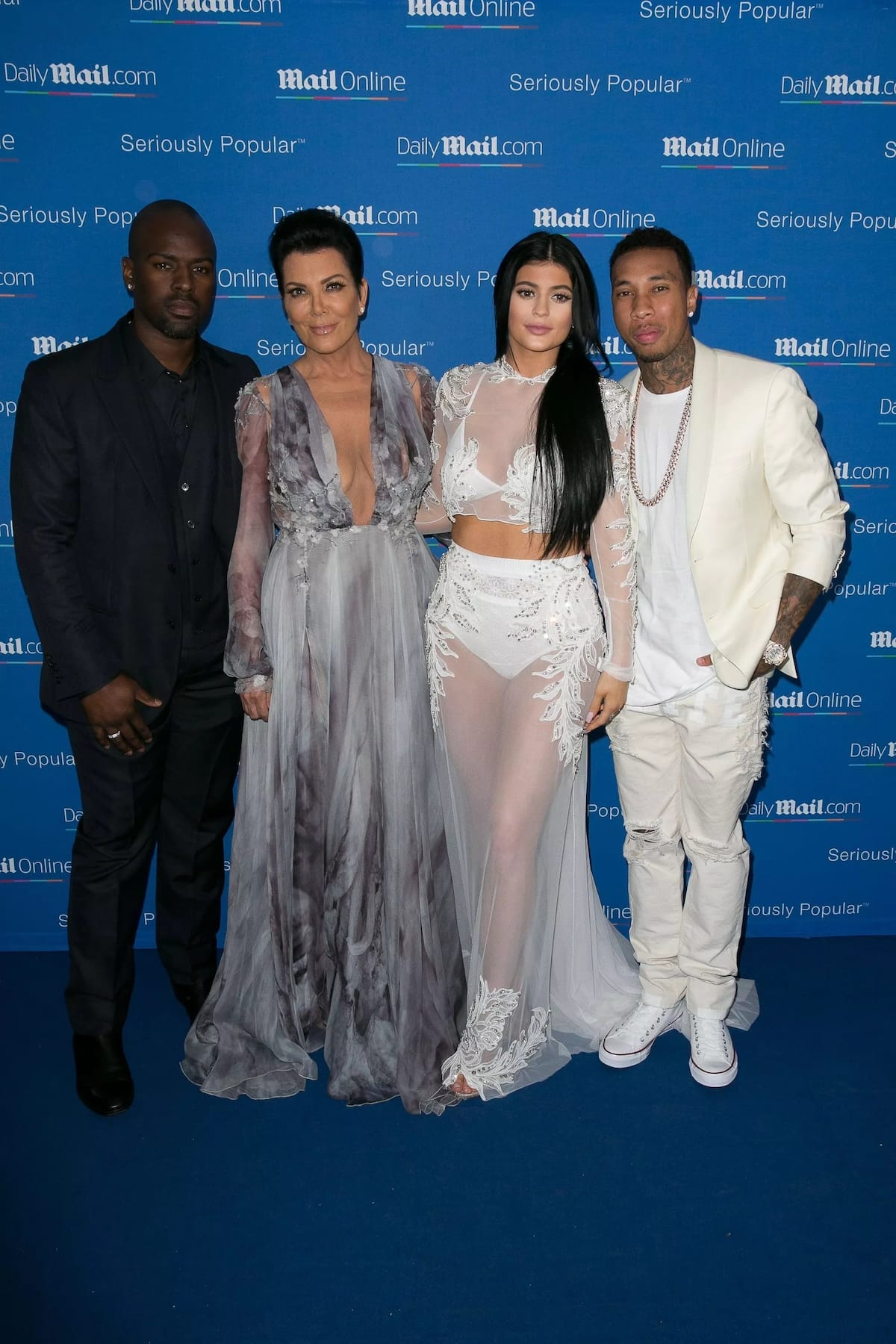 Kylie Jenner and Tyga with Kris and Corey