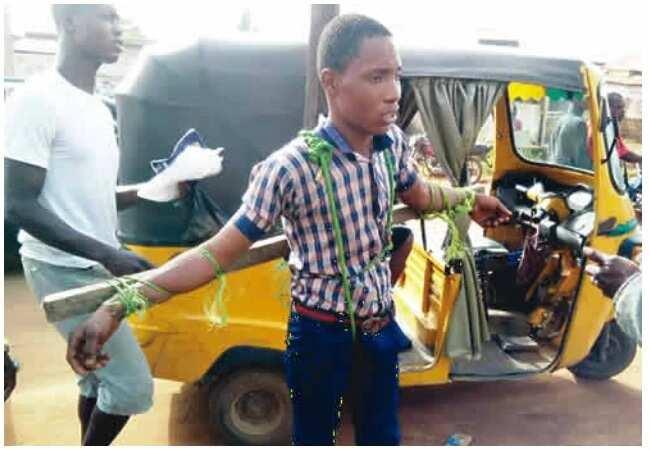 Ogun Police arrests principal for tying students to crosses, flogging them
