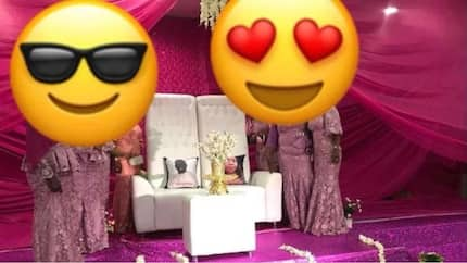 Families join two pillows together in marriage as couple were out of the country, man shares experience